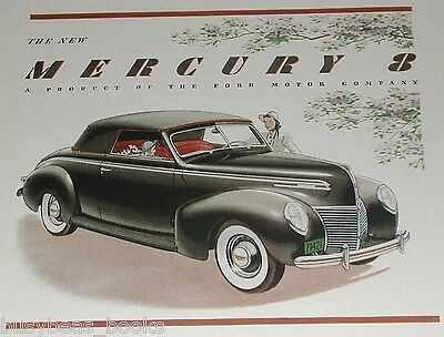 1939 Mercury advertisement, MERCURY 8 convertible, color art, Ford Motor Co.