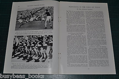 1936 magazine article, TRAVELS IN ITALY, pre WWII, pro Mussolini