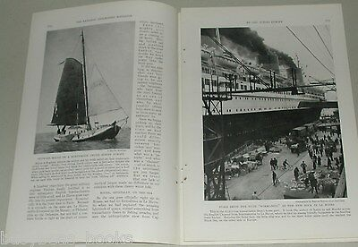 1937 magazine article, SAILING across EUROPE, rivers canals barges etc