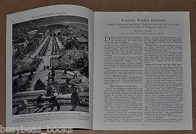 1942 magazine article about RUSSIA'S Caucasus area, natives, history, etc