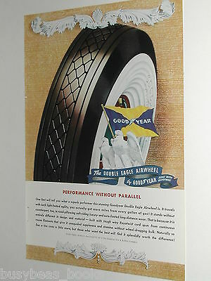 1940 Goodyear Tire ad, Double Eagle Tires, color art