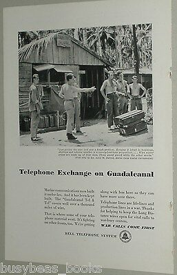 1943 Bell Telephone ad, Guadalcanal exchange, WWII