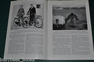 1940 MALTA BICYCLE TRIP magazine article, early WWII happenings, people etc