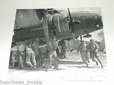 1943 BOEING advertisement, Flying Fortress, 'Air Force' movie still, WWII crew