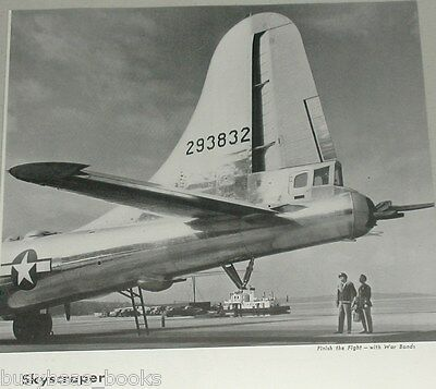 1945 Boeing Aircraft advertisement, B-29 Superfortress, tail view photo