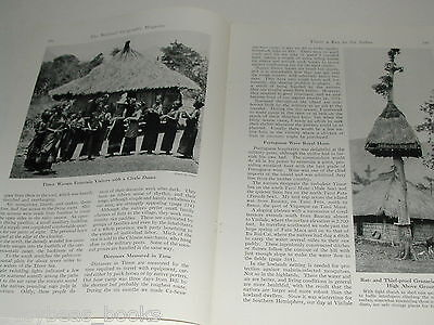 1943 magazine article, Timor, South Pacific, Natives, WWII