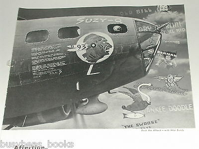 1943 BOEING Aircraft ad, Flying Fortress nose art, Susy-Q Swoose Memphis Belle
