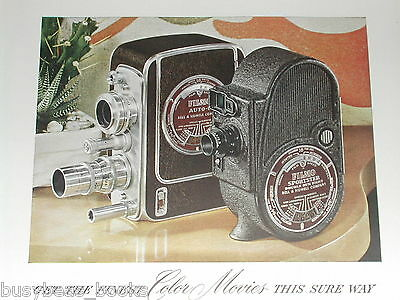 1948 BELL & HOWELL advertisement for Filmo Camera, Auto 8, Sportster