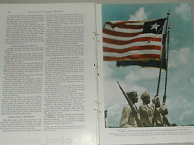 1948 magazine article about LIBERIA, AFRICA, Natives, history, rubber industry