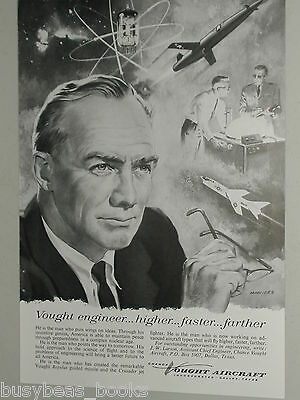 1957 Chance Vought Aircraft advertisement, Engineer career recruitment