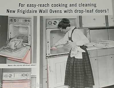 1958 Frigidaire ad, built-in oven, drop-down stove