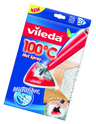 Vileda 146576 100 Degrees Celsius Hot Spray and Steam Mop Replacement Pads