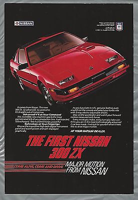 1984 NISSAN 300ZX advertisement, Nissan 300 ZX ad, red sports car