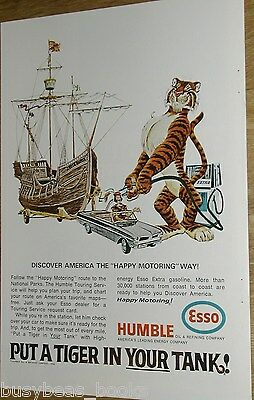 1966 ESSO Humble Oil advertisement page Put a Tigger in your Tank Chris Columbus