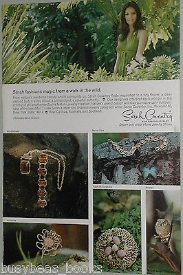 1970 Sarah Coventry jewelry ad, nature inspired