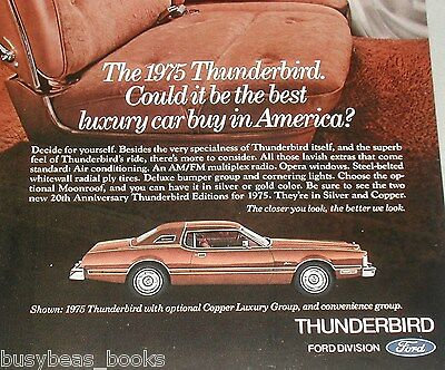 1975 Ford ad, Ford Thunderbird Copper Luxury Edition