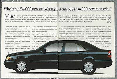 1994 MERCEDES BENZ 2-page advertisement, Mercedes C Class, Canadian ad