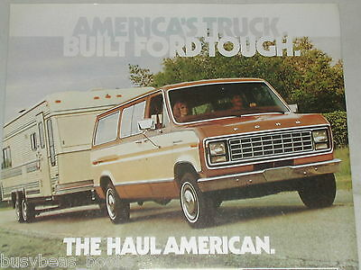 1981 Ford Van advertisement page, Ford Club Wagon van towing trailer