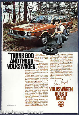 1978 VOLKSWAGEN DASHER advertisement, VW Dasher wagon with flat tire