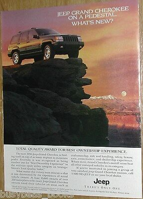 1996 Jeep advertisement page, Jeep Grand Cherokee, Chrysler