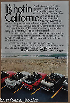 1984 VOLKSWAGEN Convertibles advertisement, VW, California beach, Hot