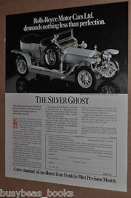 1989 Franklin Mint advertisement for the 1907 Rolls Royce Silver Ghost model