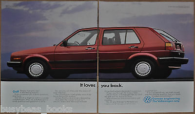 1989 VOLKSWAGEN GOLF 2-page advertisement, VW Golf, big photo