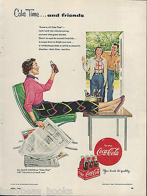 1954 COCA-COLA advertisement, Coke Time, relaxing lady