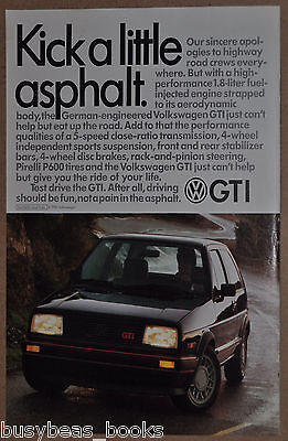 1986 VOLKSWAGEN GTI advertisement, VW GTI, Kick some asphalt
