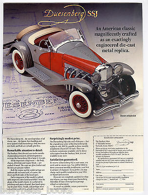 1988 Danbury Mint advertisement for their 1935 DUESENBERG SSJ model