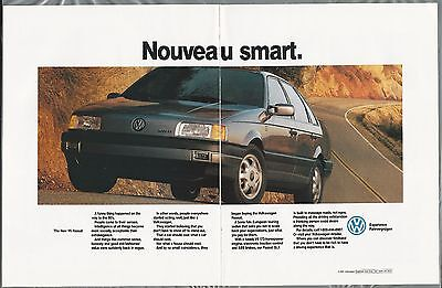 1993 VOLKSWAGEN PASSAT 2-page advertisement, VW Passat sedan ad