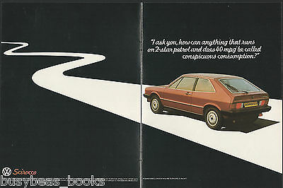 1980 VW SCIROCCO 2-page advertisement, British advert, Volkswagen