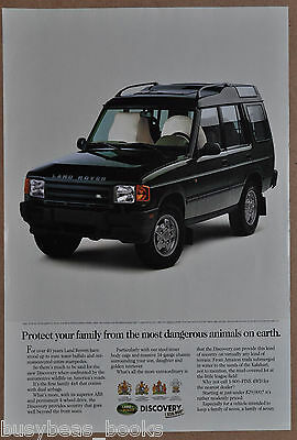 1994 LAND ROVER advertisement, Land Rover Discovery, airbags