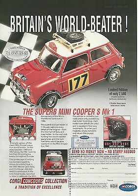 1994 CORGI advertisement for MINI COOPER S Mk1 model, British advert