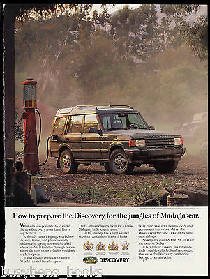 1994 LAND ROVER DISCOVERY advertisement, Rover at old-time gasoline pump