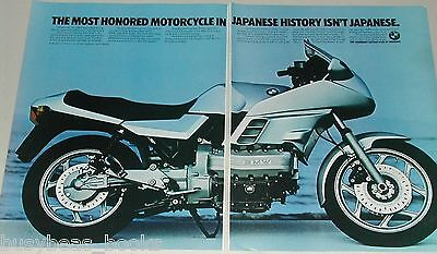 1984 BMW 2-page ad, BMW K-series motorcycle