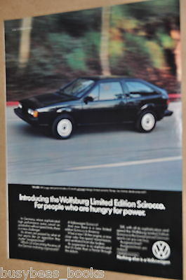 1983 Volkswagen SCIROCCO advertisement, VW  Wolfsburg Limited Edition Scirocco