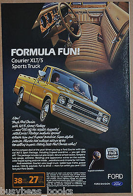 1982 FORD COURIER advertisement, Ford Courier pickup truck