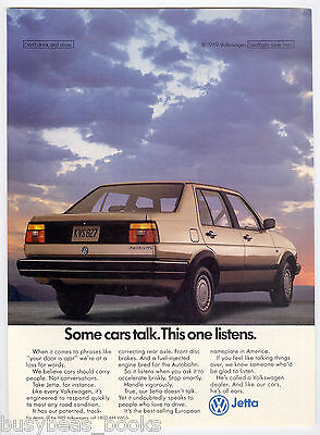 1989 Volkswagen JETTA advertisement, Volkswagen Jetta sedan