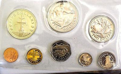Barbados1973 First Coinage Proof Set (8 Coins) /Case/COA/Literature