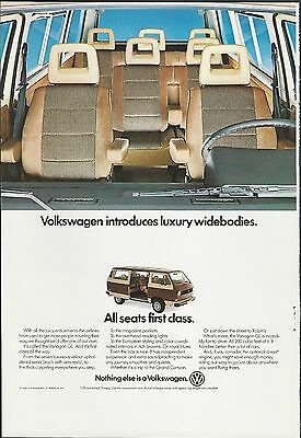 1982 VW VANAGON advertisement, Volkswagen Vanagon luxury van ad