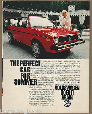 1981 VOLKSWAGEN RABBIT advertisement, with actress Elke Sommer large size advert
