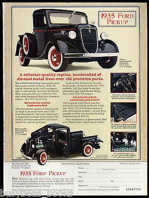 1997 Danbury Mint advertisement for 1935 FORD PICKUP TRUCK model