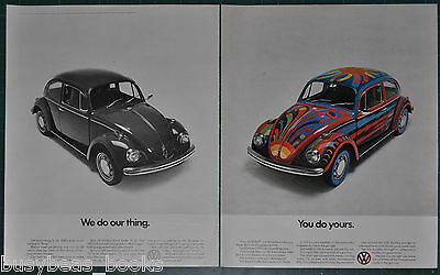 1970 VOLKSWAGEN 2-page advert VW Bug, We Do Our Thing, You Do Yours psychedelic