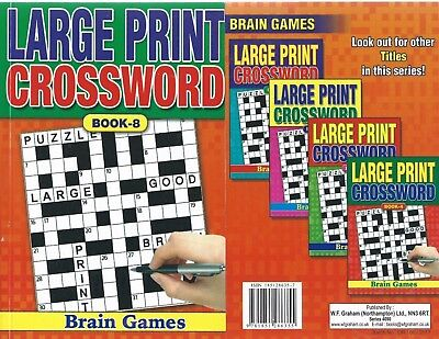 Large Print Crossword Book 75 Puzzles In Each A5 Size Book 8 A Real Bargain