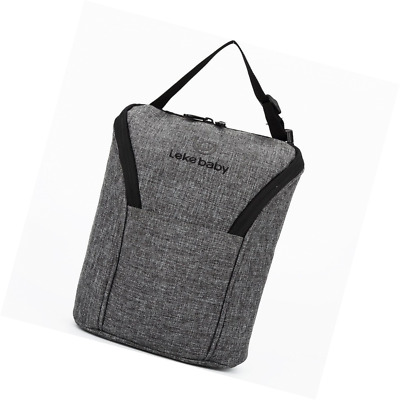 Lekebaby Insulated Double Baby Bottle Bag for Keep Baby Bottles Warm or Cool