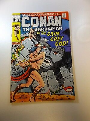 Conan The Barbarian #3 signed by Roy Thomas & Sal Buscema FN+ condition