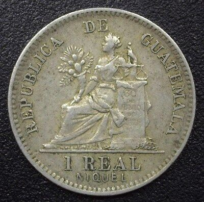 Guatemala 1900 Silver 25 Centavos - Km#177, Medal Rotation - About Uncirculated