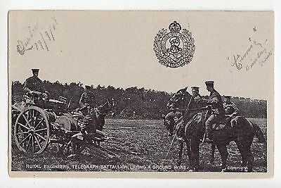 Royal Engineers Telegraph Battalion laying wire British Army 1908 G.D.&D.