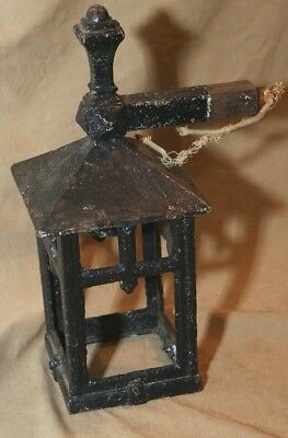 Antique Arts & Crafts Mission Architectural Iron Electrified Outdoor Lighting